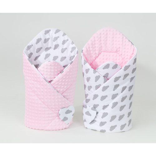 minky pólya - Felhős rózsaszín minkyvel