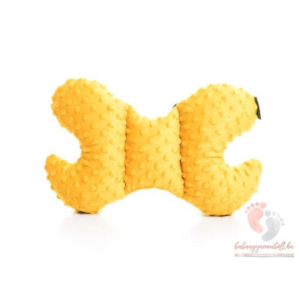 Pihe-puha pillangó párna Meseautó okkersárgával