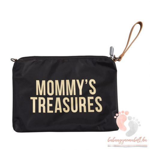 Mommy Clutch - black gold