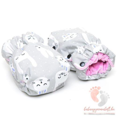 Pihe-puha sport babakocsira szerelhető kézmelegítő - Funny Bunny rózsaszín