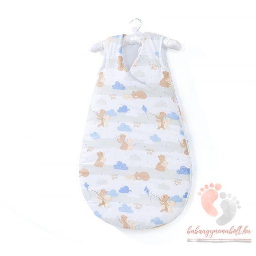 Prémium baba hálózsák - Kék felhős macik