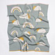 Nature pamut kötött takaró - Szivárvány szürke