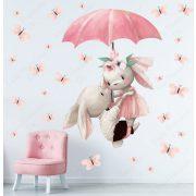 Falmatrica - Nyuszik esernyővel és pillangókkal