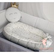Hagyományos babafészek - Szürke csillagos