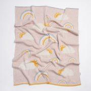 Nature pamut kötött takaró - Szivárvány rózsaszín