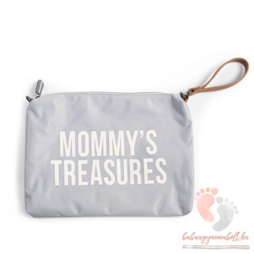 Mommy Clutch - grey off white