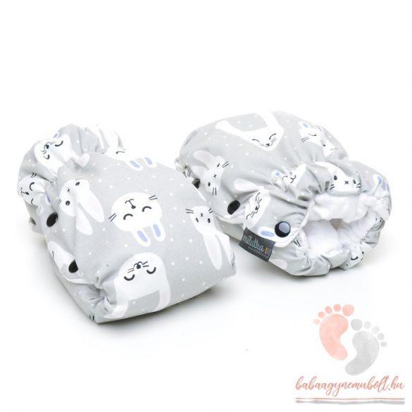 Pihe-puha sport babakocsira szerelhető kézmelegítő - Funny bunny fehér