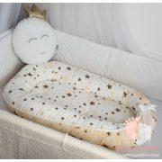 Hagyományos babafészek - Bézs csillagos