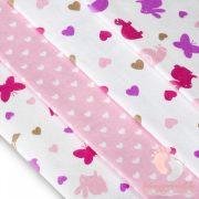 Mintás textil pelenka válogatás 4 db-os - Szíves