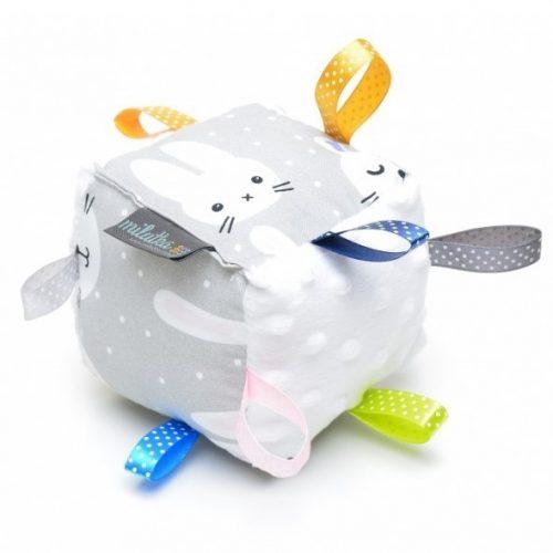 Pihe-puha babakocka - Funny Bunny fehér