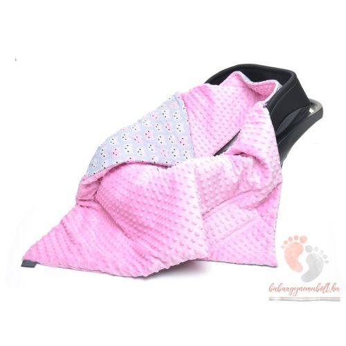 Pihe-puha kocsitakaró - Kiscicák rózsaszín