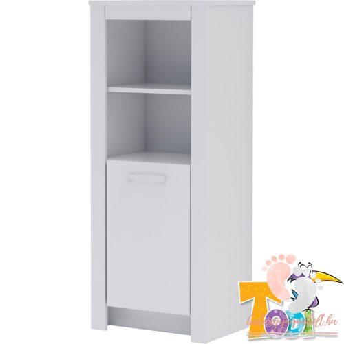 Todi White Bunny - keskeny nyitott +1 ajtós szekrény (140 cm magas)