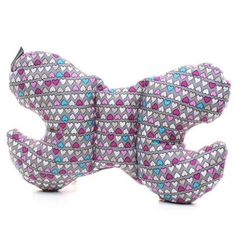 pillangó párna színes szívek rózsaszín