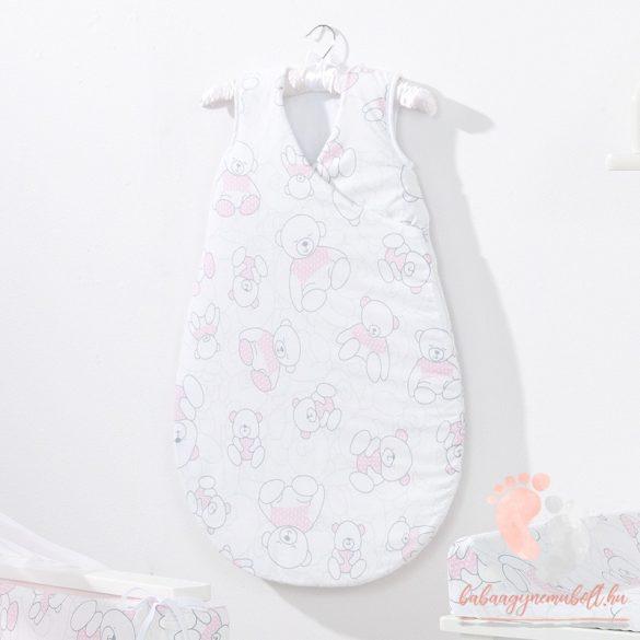 Prémium baba hálózsák - Rózsaszín Teddy maci
