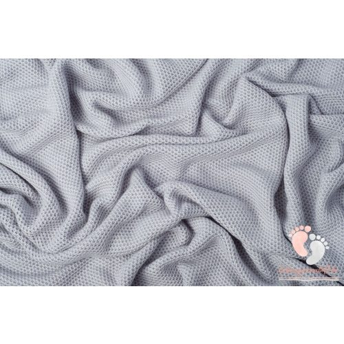 Happy bambusz kötött takaró - Világos szürke