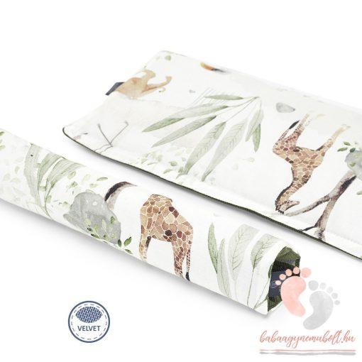 Könnyű álom velvet babakocsi karfa védő - Szafari