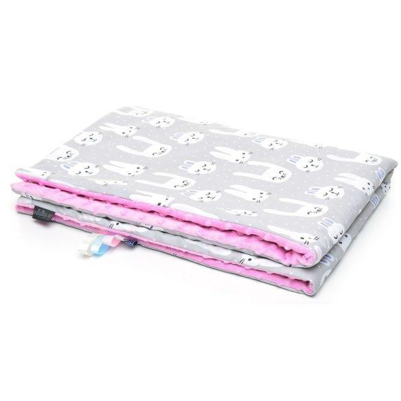Pihe-puha minky takaró - Funny Bunny rózsaszín