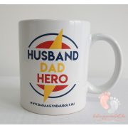 Husband Dad Hero bögre