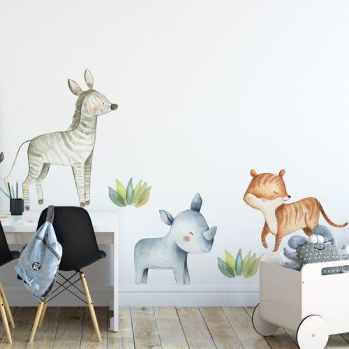 Design falmatrica - Szafari állatok 2