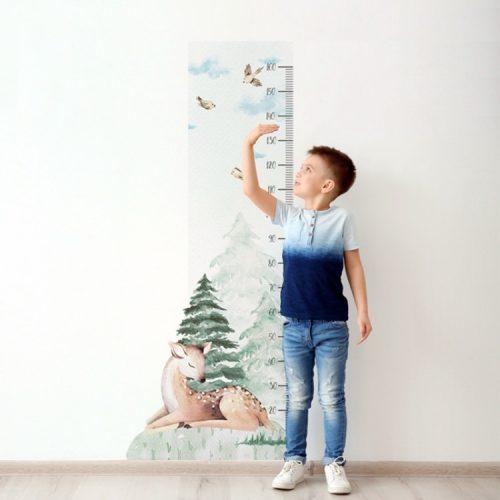 Design falmatrica - Őzikés magasságmérő