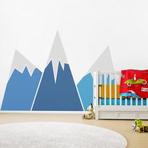 Design falmatrica - Hegyek szabadon választható színekben