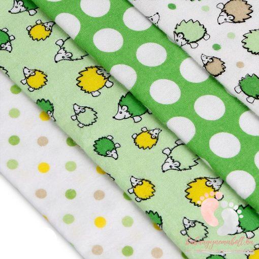 Mintás textil pelenka válogatás 4 db-os - Sünis pöttyös