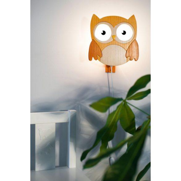 Bagoly barna fali lámpa